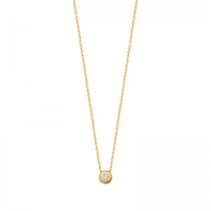 Collier pl-or 750 3mic oz