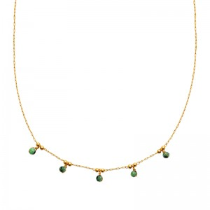 Collier pl-or 750 3mic rubis zoisite