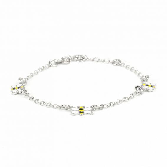Bracelet 3 abeilles en argent 925 pour enfant - Bijoux en argent