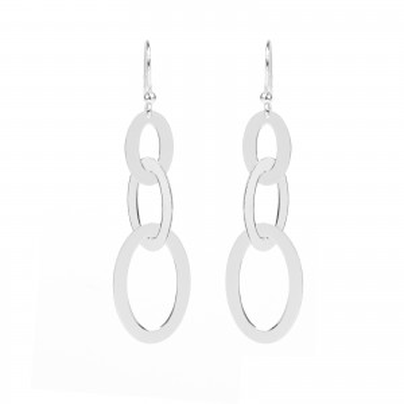 Bijou en argent - 3 oval rings