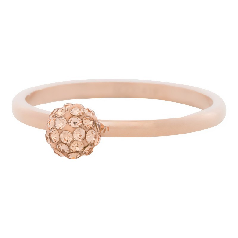 496c7419ae27a Anneau recouvrant iXXXi rosé sphère cristal clear iXXXi rosé - Bijou des bagues  iXXXi