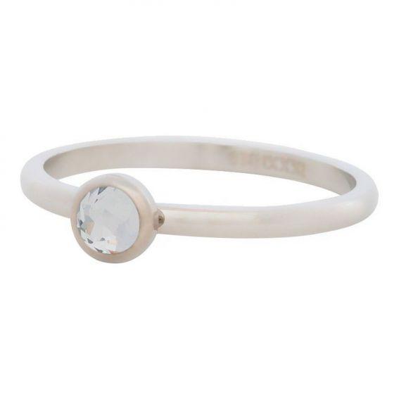 iXXXi - Solitaire silver crystal stone iXXXi