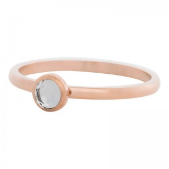 iXXXi - Solitaire Crystal pink stone iXXXi