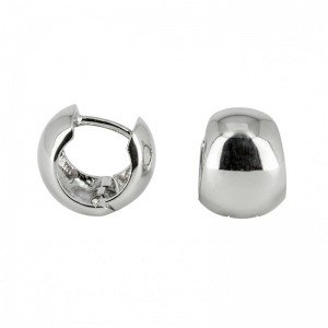 Bijou en argent - Creoles hinges smooth convex