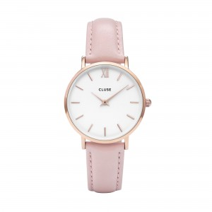 Montre CLUSE - La minuit rose gold white/rose gold