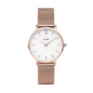 Cluse - Watch CLUSE - Midnight Mesh rose gold / white