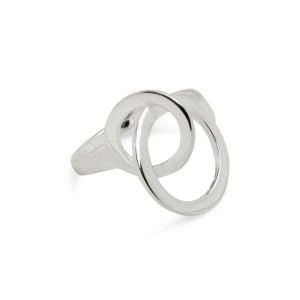 Bijou en argent - Ring Double circle 925
