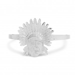 Bijou en argent - Bracelet indian head