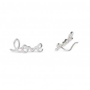 Bijou en argent - LOVE earrings rising