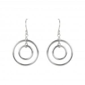 Bijou en argent - Earrings 2 round silver