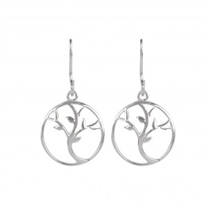 Bijou en argent - Pierced ears tree of life