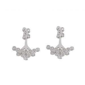 Bijou en argent - Earrings sub-lobe stone clusters