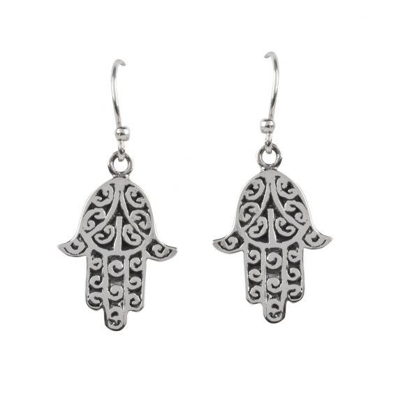 Boucles d'oreilles main de fatma - Bijoux en argent