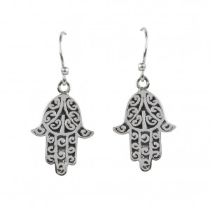 Bijou en argent - Earrings hand of Fatma