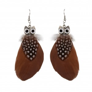 Bijou en argent - Owl Feather head
