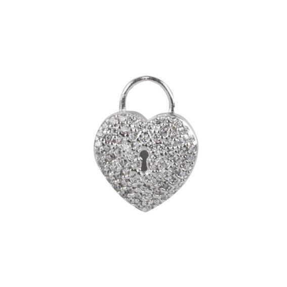 Bijou en argent - Heart pendant and lock