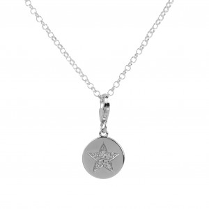 Bijou en argent - Medal and Star Necklace