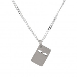 Bijou en argent - mini plate brushed Necklace