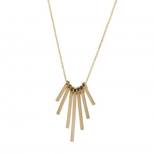 - Necklace small golden plates