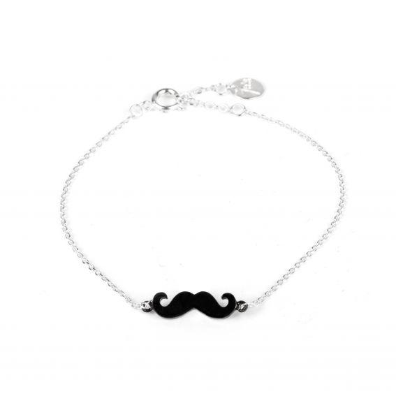 Bracelet 7bis moustache argenté - Bracelet de la marque 7bis