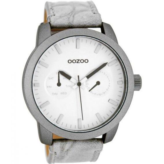 Montre Oozoo Timepieces C8255 grey croco - Montre de la marque Oozoo