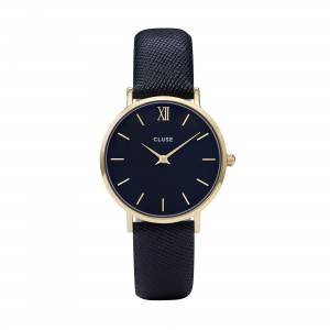Montre CLUSE - La minuit gold/midnight blue - Bracelet cuir bleu midnight