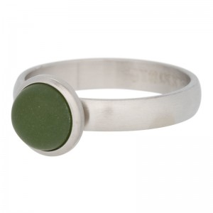 iXXXi - Solitaire green cat eye olive matte silver iXXXi