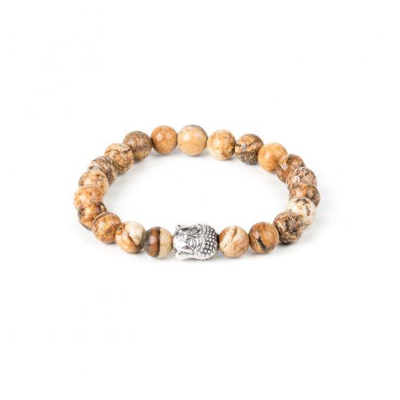 Bracelet boules brunes bouddha enfant - Bracelet élastique pour enfant