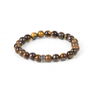 Bijou en argent - Bracelet child brown balls