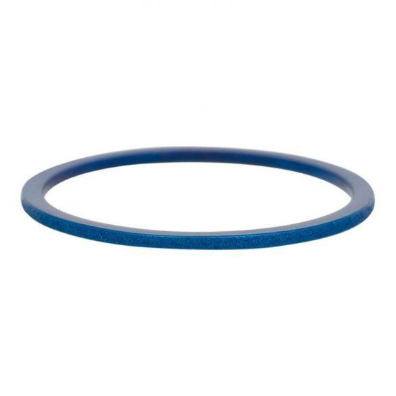 Anneau recouvrant iXXXi sablée 1mm iXXXi bleu - Bijoux marque iXXXi