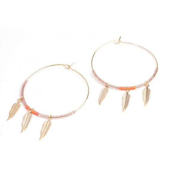 Boucles d'oreille 3 plumes de la marque 7bis - Bijoux 7bis