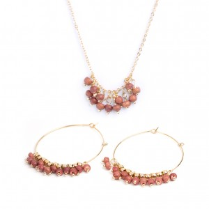 7bis - Collier and multi-balls earrings